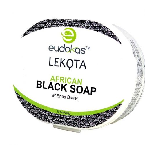 Eudokas Lekota African Black Soap with Shea Butter (Paste)