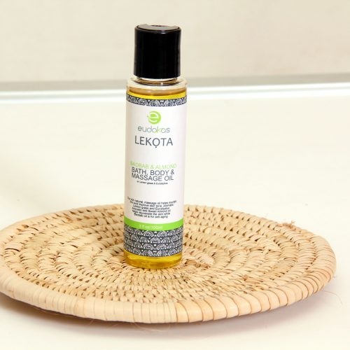 Eudokas Lekota Baobab & Almond Bath, Body & Massage Oil With Lemon Grass & Eucalyptus