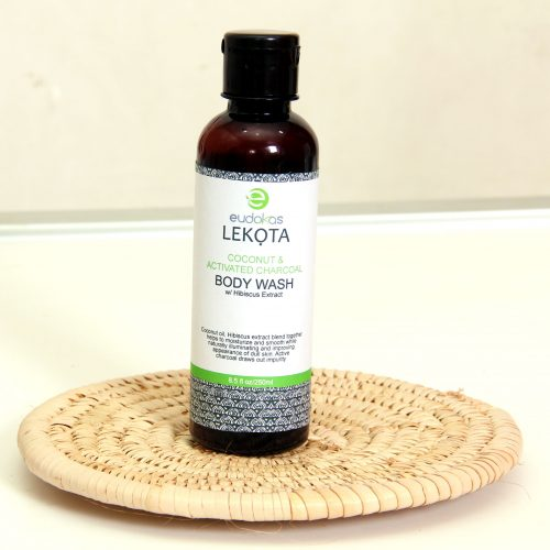 Eudokas Lekota Coconut and Activated Charcoal Body Wash With Hibiscus Extract